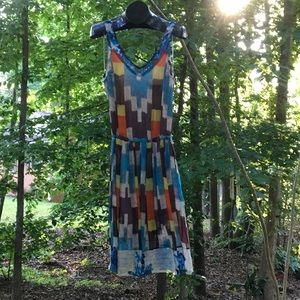 Tracy Reese multi-color back tied waist Sundress.